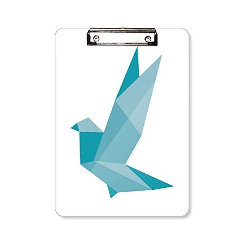 Origami Abstract Grenn Duif Patroon Klembord Folder Schrijven Pad Achterplaat A4