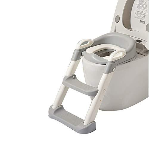 Kleinkind-Toilettenstuhl, Kinder-Kommodenstuhl Töpfchen-Trainingsstuhl, höhenverstellbar, starke Tragfähigkeit, geeignet für Jungen und Mädchen/grau / 38x35x66cm
