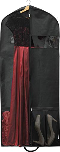 Simplehousware 54-Inch Heavy Duty Garment Bag w/Pocket for Suits, Tuxedos, Dresses, Coats