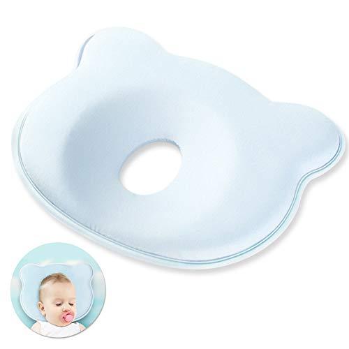 Baby Kissen,Babykissen gegen plattkopf,Baby-Kissen für Flachkopf-Syndrom,Kissen Säugling Neugeborene,Memory-Schaum-Kissen für Baby,Babykissen gegen,Babykissen Orthopädisches,0-24 Monate