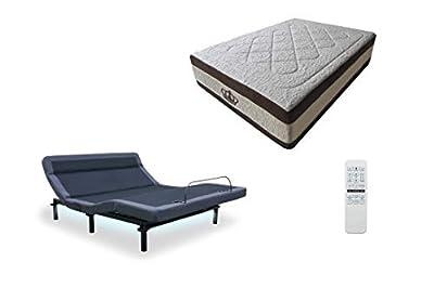 "Leggett & Platt Adjustable Bed The Williamsburg Plus, Massage, Head Tilt, Underbed Light, Dual USB Port with 15.5"" AtlantisBreeze Gel Memory Foam Bed by DynastyMattress (Twin XL)"