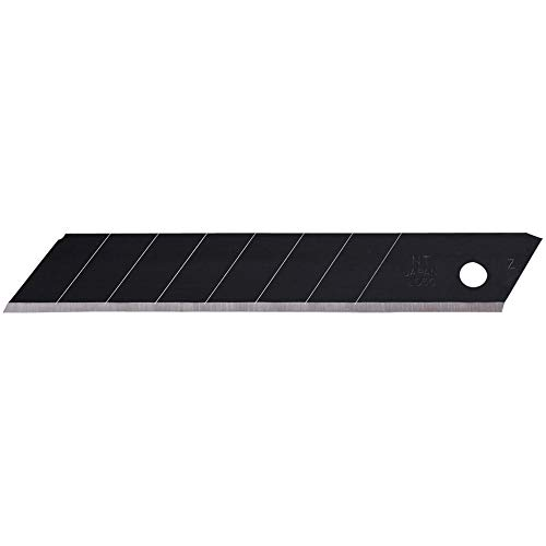 NT Cutter 18mm Heavy-Duty Ultra-Sharp Black Snap-Off Blades, 10-Blade/Pack, 1 Pack (BL13P)