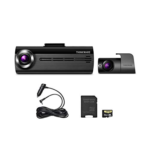 THINKWARE FA200 Dash Cam Bundle with Front & Rear Cam, Cigarette Power Cable, 16GB MicroSD Card...