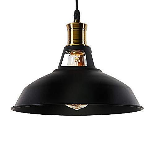Lightess Suspension Luminaire Industrielle Vintage E27 Rétro en Métal Lampe Pendante Plafonnier Réglable pour Eclairage Cuisine Salle à manger Salon Corridor Couloir Restaurant [Classe énergétique A+]