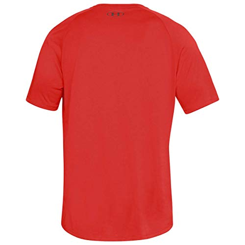 Under Armour Men's Tech 2.0 Shortsleeve Light and Breathable Sports T-Shirt, Gym Clothes with Anti-Odour Technology, Red/Graphite, M