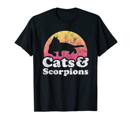 Gatos y Escorpiones Hombre o Mujer Gato y Escorpión Camiseta
