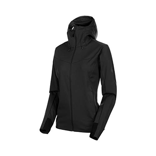 Mammut Damen Ultimat V Hooded Softshell-Jacke mit Kapuze, Black, XL