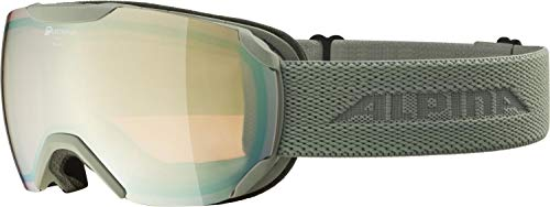 ALPINA PHEOS S Q Gafas de esquí, Unisex-Adult, moongrey, One Size