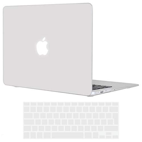 TECOOL Funda MacBook Air 13 Pulgadas (Versión: 2010-2017, Modelo: A1466 / A1369), Delgado Cubierta Plástico Dura Case Carcasa con Tapa del Teclado para MacBook Air 13.3 Pulgada - Frost