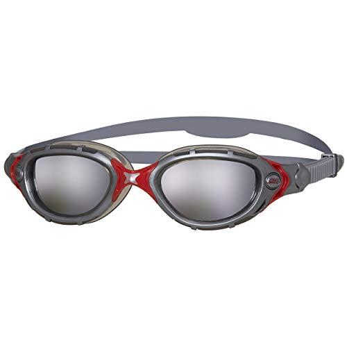 Zoggs Predator Flex, Occhialini da Nuoto Unisex-Adult, Argento/Fumo/Lente a Specchio, Taglia Unica