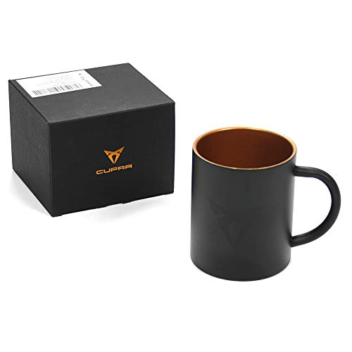 Seat 6H1069601IAA Cupra Tasse Edelstahl Becher Mug Kaffeetasse schwarz/Kupfer