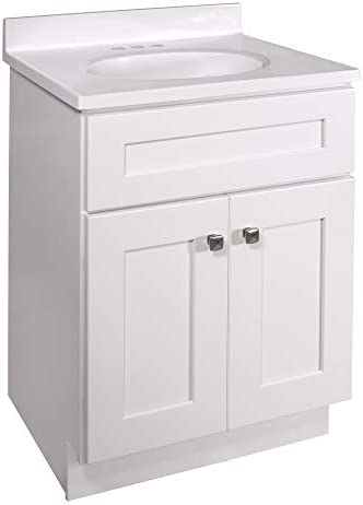 Design House 584722 Combo Brookings Shaker 2 Door 25x19 Vanity Cultured Marble 4 in Centerset product image