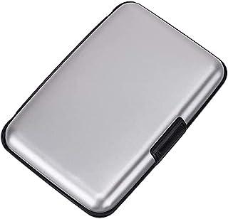 MAESTRA Credit Card Holder Hard Case Travel Wallet ID Purse Multi Pockets RFID Scan Protection Organiser (Silver)