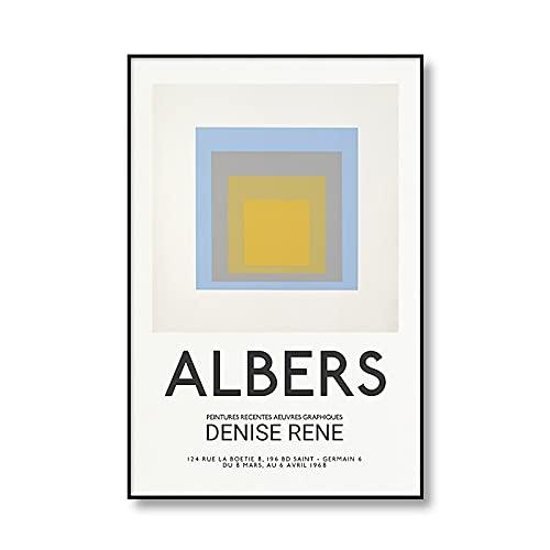 Exposición de ilustraciones geométricas abstractas de Joseph, carteles e impresiones, pared, familia, arte sin marco, pinturas en lienzo D 30x45cm