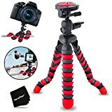 """12"""" Inch Flexible Tripod with Quick Release Plate for Nikon Coolpix S5300, S5200, S5100, P100, P90, P80, P530, P520, P510, P500, P5100, P5000, P6000, S10 Digital Cameras"""