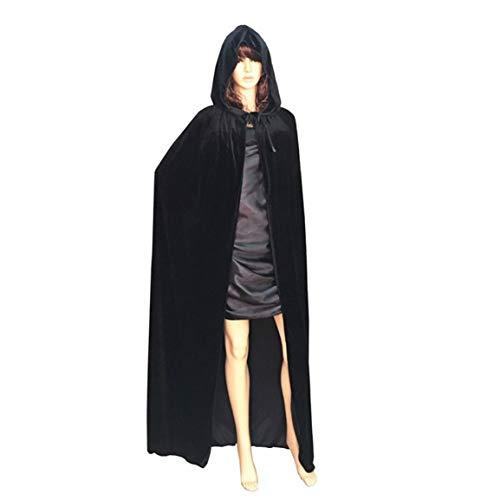 Disfraz de Parca de Halloween para Fregar, Capa Larga, Capa de Princesa, Capa de Terciopelo denso para Adultos, Capa de Halloween
