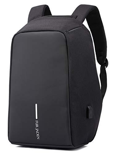 Fur Jaden 15 Ltrs Black Anti Theft Waterproof Backpack