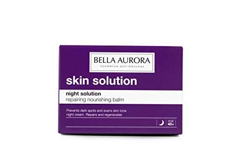 Bella Aurora Crema de Noche Nutritiva Anti-Fatiga Mujer 40+ Años, Anti-Arrugas, Anti-Edad, Anti-Manchas, Tratamiento Facial Hidratante, Night Solution, 50 Mililitros
