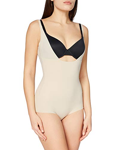 Maidenform Sleek Smoothers WYOB Body Briefer Everyday Control & Light Weight, Beige (Paris Nude Pad), S para Mujer