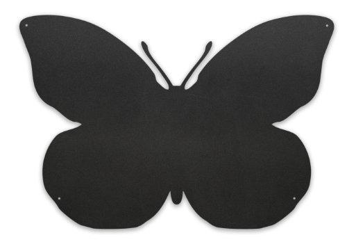 Kalamitica, Tableau magnétique mural, Forme Papillon, Acier Écrivable à la Craie, Dimensions 56x38x0.12 cm