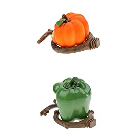 2 Pieces Pumpkin and Pepper Shape Feeders For Birds, Durable Non-Toxic – Great for Indoor Cats, Large Bird
