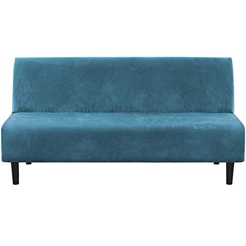 H.VERSAILTEX - Funda para sofá de terciopelo real, gruesa y suave que se mantiene en su lugar, apta para futón sin brazos, sofá,...