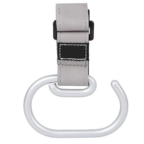 Gancho para silla de paseo con gancho para bebé de esquina redonda duradera para prevención de óxido para cochecito de bebé(gray)