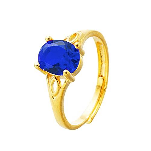 XPT Anillo de mujer de moda magnífico para todo el partido femenino elegante oval anillo de diamantes de imitación para uso diario banquete 5