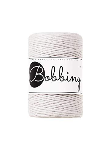 Bobbiny Hilo de macramé Oeko-Tex Premium de algodón ecológico 1,5 mm x 100 m (Moonlight)