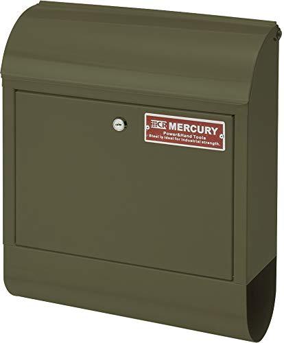 マーキュリー 壁掛け ポスト メールボックス 16×38×45cm マットオリーブ