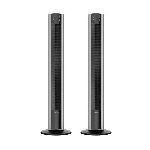 Lasko XtraAir 48 In. Tower Home Fan Air Ionizer with Remote Control (2 Pack)