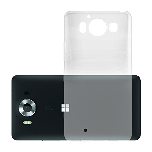 Cadorabo Custodia per Nokia Lumia 950 XL in Transparente - Morbida Cover Protettiva Sottile di Silicone TPU con Bordo Protezione - Ultra Slim Case Antiurto Gel Back Bumper Guscio