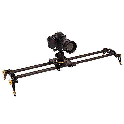 Koolstofvezel Camera Track Slider Video Stabilizer Rail met 6 Lagers voor DSLR Camera DV Video Camcorder Film Fotografie, Laad tot 17,5 lbs /8 KG