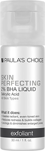 Paula's Choice-SKIN PERFECTING 2% BHA Liquid Salicylic Acid Exfoliant, 1 Ounce Travel Size Bottle Facial Exfoliant for Blackheads Enlarged Pores Wrinkles Fine Lines