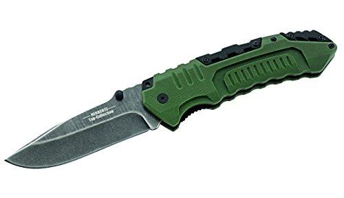Herbertz TOP-Collection Unisex– Erwachsene Messer Einhandmesser Stonewash Länge geöffnet: 22.0cm, Grau, M