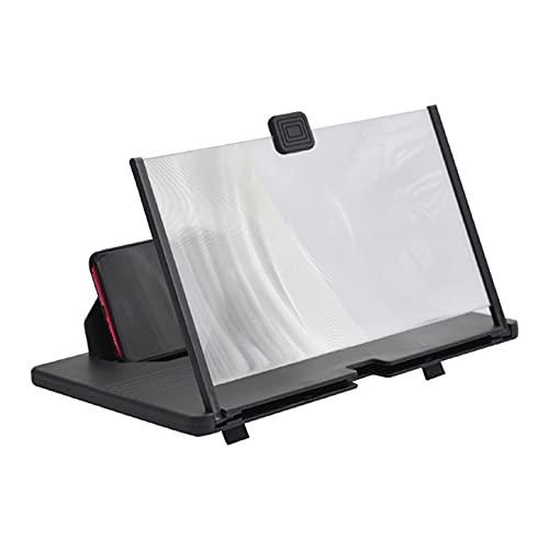 ZYYXB Telefonbildschirmlupe 12-Zoll-Blu-Ray-Handyprojektor Hochauflösender 3D-Telefonbildschirmverstärker für alle Smartphones Smartphone,Schwarzes 12 Zoll Blu-ray HD