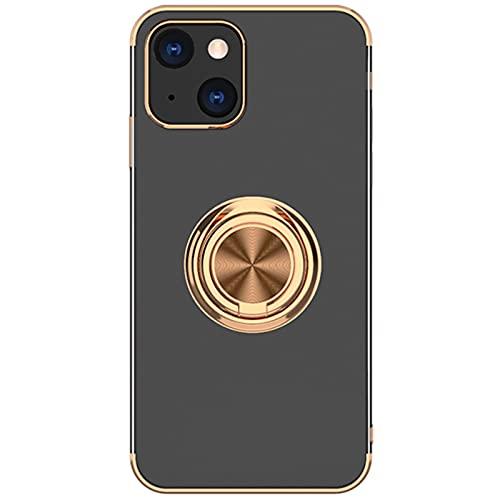 Hülle kompatibel für iPhone 13 Mini mit Magnetische Saug Autohalterung Ring - wojonifuiliy Handy Magnetische Autohalterung Schutzhülle 120 + 360 Grad Cover Schutzhülle kompatibel für Apple