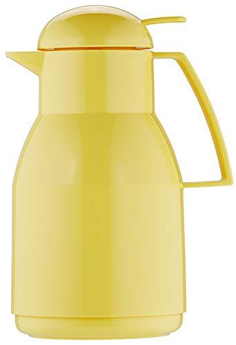 Helios Top Push Kunststoff-Isolierkanne, gelb, 1 Liter