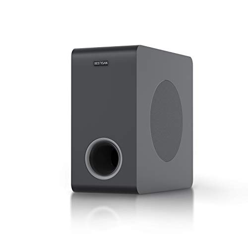 Powered Subwoofer, BESTISAN Deep Bass Home Audio Subwoofer, Wired and Wireless Compact Subwoofer for Home Theater/TV/Speakers/Computer/Phone,...