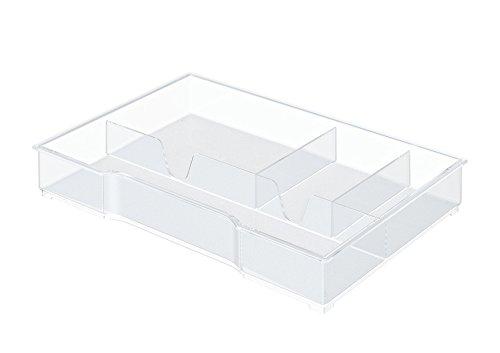 Leitz 52150002 - Bandeja organizadora para bucs de cajones Plus y WOW, 4 compartimentos, Transparente, Poliestireno