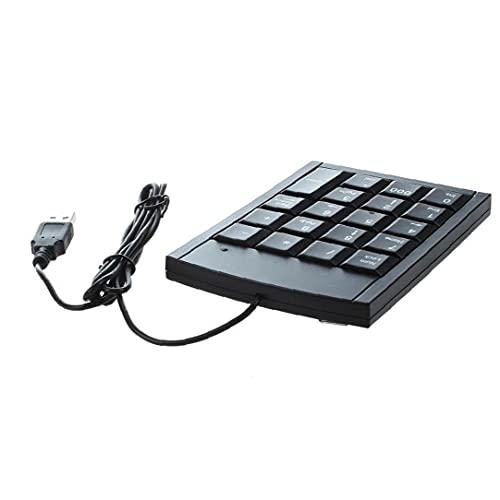 Tastiera numerica USB Portable Slim Mini Pad Numero per computer portatile Desktop PC Big Print Letters Black Office Electronics