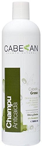 CABESAN Anticaida para Cabello Graso 0% Parabenos con extractos de plantas (500ml)