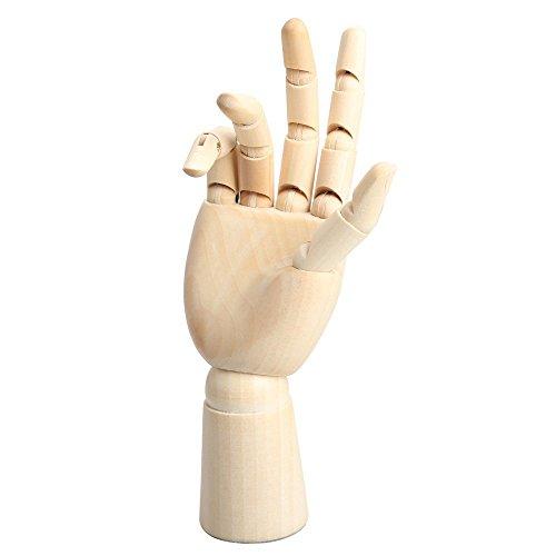 TOOGOO 18 * 6cm Modele articule de main droite en bois mannequin cadeau d'art alternatives