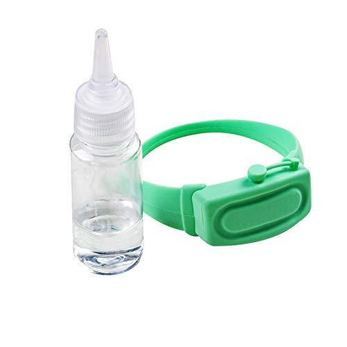 Smilerr Flüssigkeits-Armband aus Silikon, verstellbares Armband mit Flasche gefüllt mit Handseife, wiederaufladbar