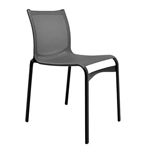 441 Bigframe Stuhl Special, schwarz lackiert BxHxT 48x86x61cm Gestell Aluminium