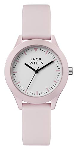Jack Wills Damen Analog-Digital Quarz Uhr mit Leder Armband JW008PKPK