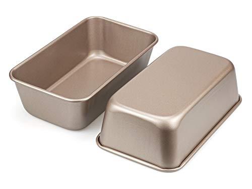 Tebery 2er-Pack Kasten- und Brotbackformen Brotbackform, antihaftbeschichtet, Karbonstahl, 24 x 14,5 cm