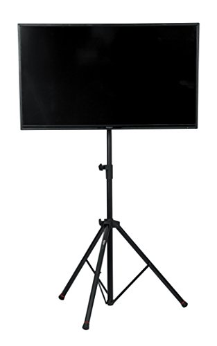 Gator Frameworks Deluxe Adjustable Tripod LCD/LED TV Monitor Stand with Lift Piston; Fits Screens up to 48