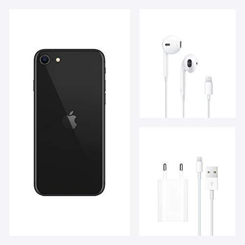 Apple iPhone SE (128GB) - Schwarz (inklusive EarPods, Power Adapter)