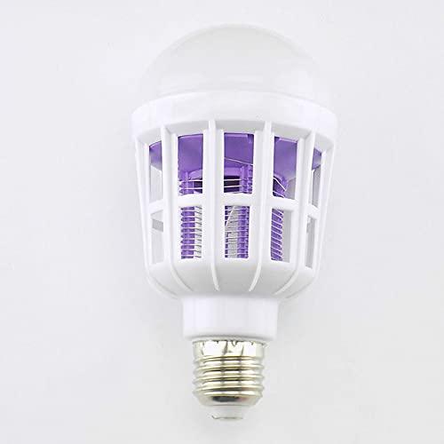 KASLXA Bombilla LED para Matar Mosquitos de 9 W / 15 W / 20 W, Bombilla LED 2 en 1 E27 para Interiores, hogar, Repelente de Mosquitos, Zapper AC 175~220 V